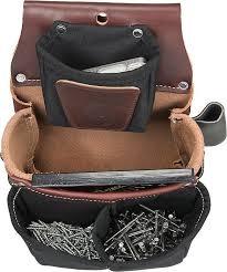 occidental leather 5564 belt worn fastener bag w divided nylon db
