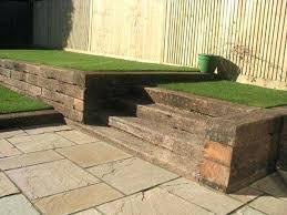 all gardens great small project wooden garden wall blocks retaining walls with railway sleepers garden walls ideas