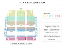 Auditorium Theater Seating Chart 51 Systematic Lyric Theater Nyc Seating View
