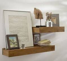 Salvaged Wood Floating Shelves Enchanting Rustic Wood Shelves Pottery Barn