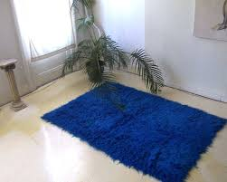 flokati area rugs cobalt blue rug white flokati area rugs