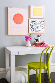 view in gallery desk area in a chic girl s bedroom
