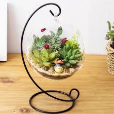 fresh hanging glass planter transpa vase flower air plant terrarium candle tealight holder pot for wedding