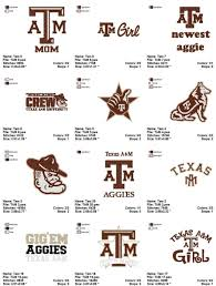 University Logo Embroidery Designs Texas A M University Embroidery Designs Instant Download