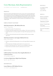 A Winning Resumes Sales Representative Resume Templates 2019 Free Download