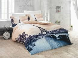 3d romantic paris 100 cotton sateen duvet cover bedding set double eiffel tower