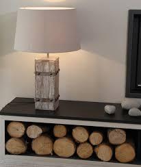 wonderful st ives rustic wood table lamp block tall 4850 a fantastic