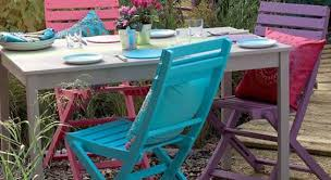 wooden outdoor furniture painted. Painted Garden Furniture Wooden Outdoor D