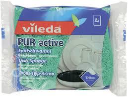 Купить <b>Губки</b> для посуды <b>Vileda Pur</b> Active 2шт с доставкой на ...