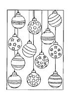 Kerstballen Kleurplaten