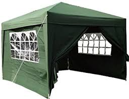 gazebo pop up. airwave 3x3mtr pop up waterproof gazebo green with 2 windbars and 4 leg weight bags