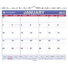 At A Glance Monthly Wall Calendar 2016 381 X 305mm Officeworks
