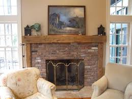 image of rustic wood fireplace mantels