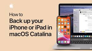 How To Back Up Your Iphone Or Ipad In Macos Catalina Apple Support