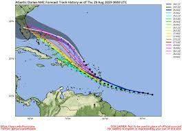 Hurricane Tracking Chart 2017 Weather Sentinel Hurricane Dorian Confidence Increasing