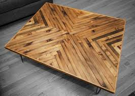 herringbone coffee table top this is a coffee table created using reclaimed old growth lumber that