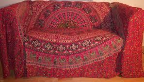 100 cotton red circle design throw 200x240 cms