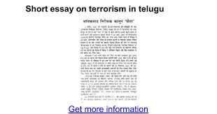 short essay on terrorism in telugu google docs