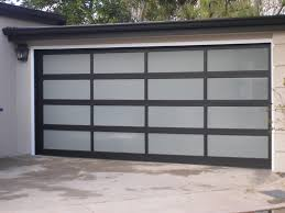 image of frosted glass garage door bay area