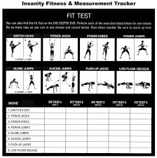 Insanity Workout Fitness Test Fitness And Workout