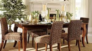 white wicker dining chairs