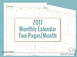 monthly calenar dated calendars scattered squirrel