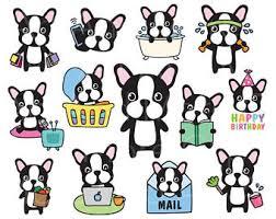 cute bulldog clipart. Beautiful Bulldog Dog Planner Clipart Boston Terrier Or French Bulldog  Sticker Chore Clip Art Life Activity For Cute