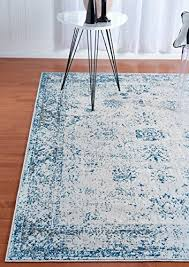 unique loom sofia collection light blue 2 x 7 runner area rug 2