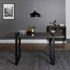 urban blend 60 in charcoal wood dining table