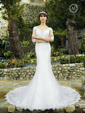 womens bridal wedding dress long lace ball gown moonlight j6510 size 14 ivory