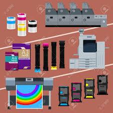 Printing Equipment Color Printer Cyan Magenta Yellow Black