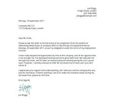 Resignation Letter From Work Letter Of Resignation Template Free