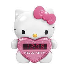 Hello Kitty Digital Am Fm Clock Radio With Night Light Hello Kitty Am Fm Projection Alarm Clock Radio With Battery