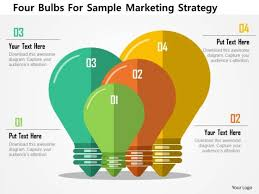Strategy Presentation Business Diagram Four Bulbs For Sample Marketing Strategy