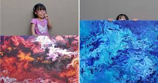 5 year old painting prodigy s mesmerizing galaxy paintings donates over 750 to charity