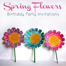 Make Birthday Party Invitations Flower Birthday Party Invitations Diy Tutorial Danya Banya