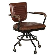 wood and leather office chair wooden leather executive desk chair
