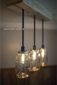 Clear Transparent Color Material Glass Jar Pendant Lights Hanging On Wood  Block Bracket Ceiling Comfy