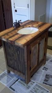 Bathrooms Design Farmhouse Bathroom Vanity Single Sink Weathered