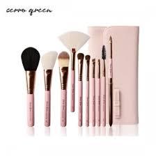 cerro qreen makeup brush set french pink 10pcs
