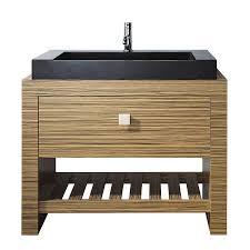 39 Bathroom Vanity Shop Avanity Knox Zebra Wood Veneer Vessel Single Sink Bathroom