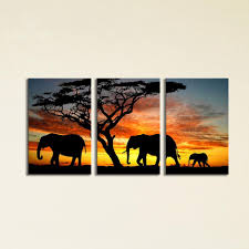2018 sunset elephant painting canvas wall art picture home decoration living room giclee prints modern painting large canvas from utocommerce