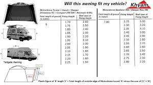 Awning Size Chart Camper Essentials