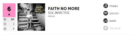 Charts Faith No More Sol Invictus Enters At Number 2 In