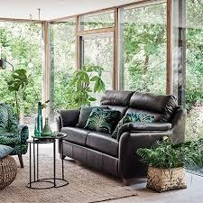 turner leather armchair medium size