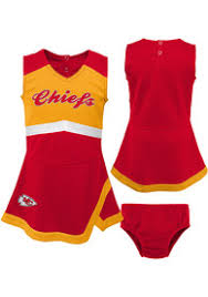 Red Kansas City Chiefs Captain Girls Cheer Toddler