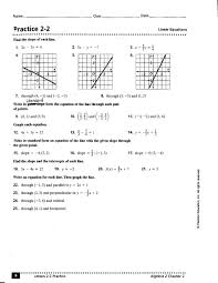 math worksheets go ii practice linear equations answers