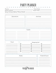 Party Planner Free Printable Party Planner Printables Fonts Party
