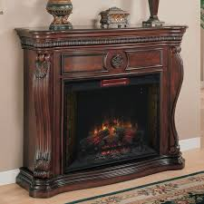 lexington 33 in infrared empire cherry electric fireplace cabinet mantel package