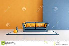 Orange And Blue Living Room Blue And Orange Living Room Royalty Free Stock Image Image 16546796